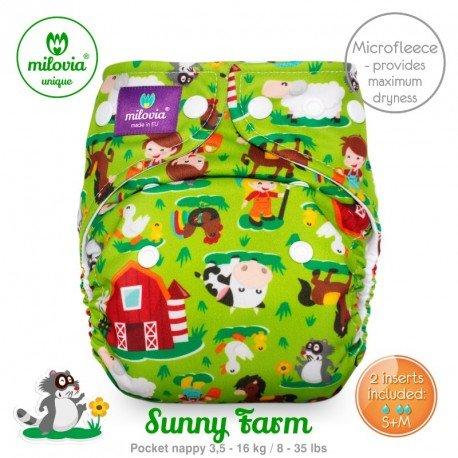Pañal rellenable Milovia Sunny Farm Micropolar. EDICIÓN LIMITADA