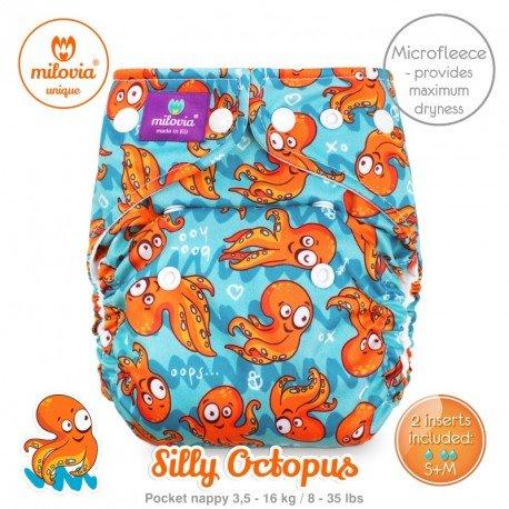 Pañal rellenable Milovia Silly Octopus Micropolar. EDICIÓN LIMITADA