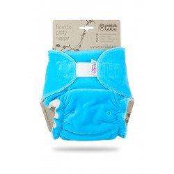 Pañal ajustado XL Nocturno Petit Lulu (Velcro) - Turquiose (velour)