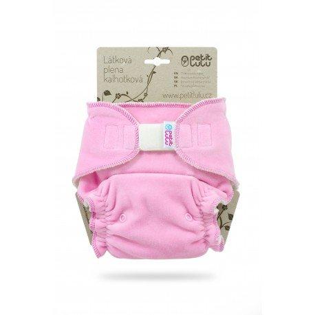 Pañal ajustado XL Nocturno Petit Lulu (Velcro) - Pink (velour)