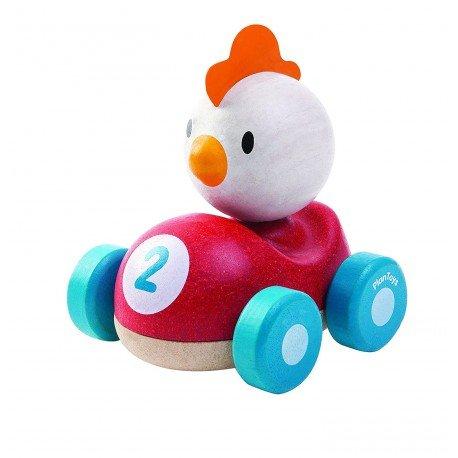 Pollo, El piloto coche de carreras Plantoys
