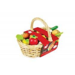 Set 24 frutas y verduras de madera Janod