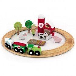 Set tren de madera