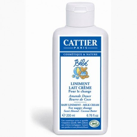 Linimento crema pañal para bebé. Cattier