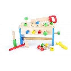 Caja de herramientas y banco de trabajo, 2 en 1