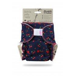 Pañal ajustado Petit Lulu (Velcro) - Cherries