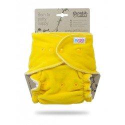 Pañal ajustado XL Nocturno Petit Lulu (Snaps) -Yellow (velour)