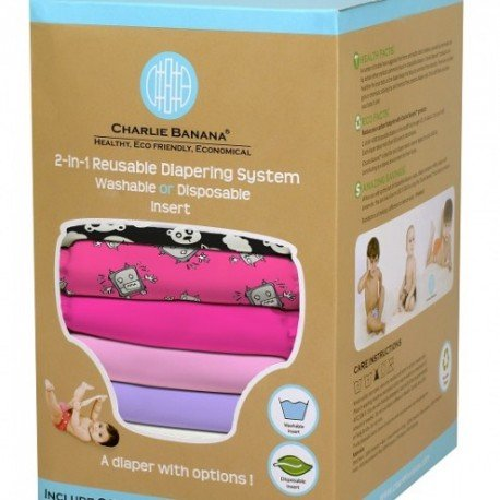 Pack 6 pañales Charlie Banana One Size + 12 absorbentes - Matthew longille girl