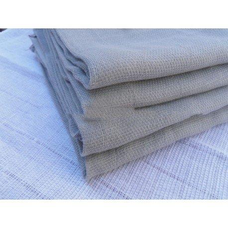 Gasa 100% algodón 70x70 cm - Ceniza