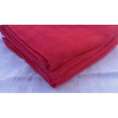 Gasa 100% algodón 70x70 cm - Rojo