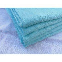 Gasa 100% algodón 70x70 cm - Turquesa