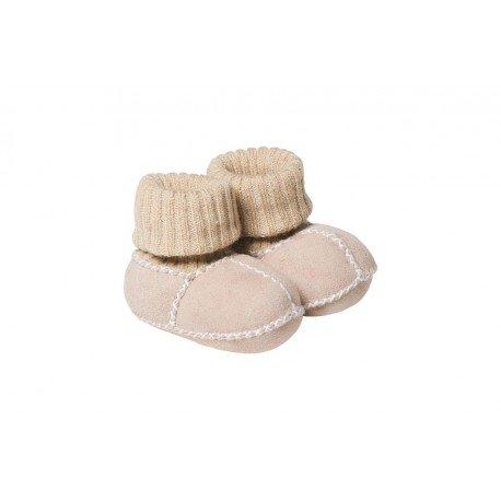 Patuco para bebé en piel de cordero Gris Fellhof