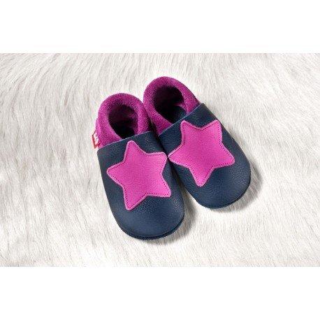 Zapatos Pololo Soft sin suela Small Star tobago / púrpura