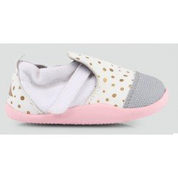 Zapato Bobux Step Up Play Xplorer City Rosa y Oro