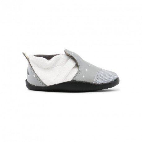 Zapato Bobux Step Up Play Xplorer City Gris y Blanco