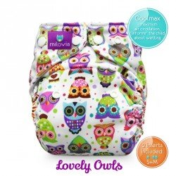 Pañal rellenable Milovia Lovely Owls Coolmax
