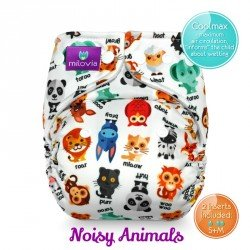 Pañal rellenable Milovia Noisy Animals Coolmax