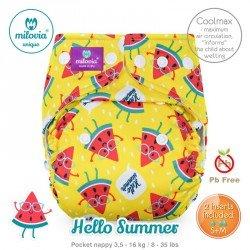Pañal rellenable Milovia Hello Summer Coolmax. EDICIÓN LIMITADA