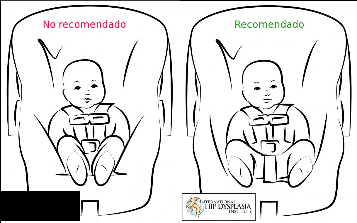 La cadera del beb y el uso de pa ales de tela - Altura para ir sin silla en el coche ...