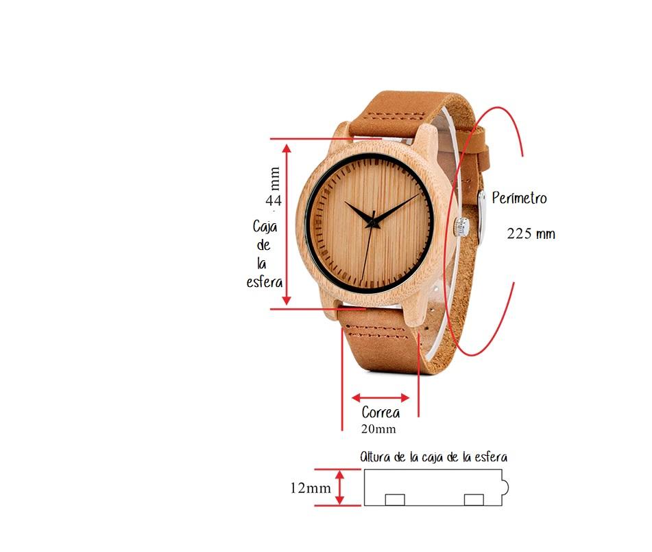 Caracteristicas reloj madera