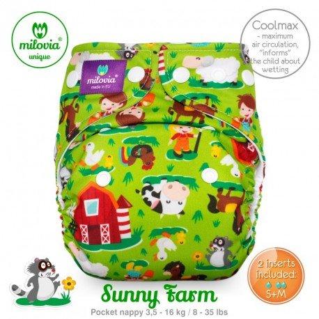 Pañal rellenable Milovia Sunny Farm Coolmax. EDICIÓN LIMITADA