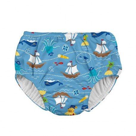 Pañal natación iPlay - Light Blue Pirate Ship