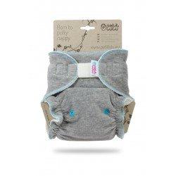 Pañal ajustado XL Nocturno Petit Lulu (Velcro) - Grey (velour)