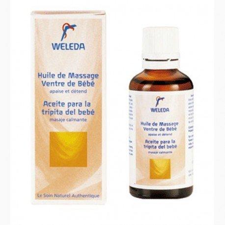 Aceite de masaje relajante para tripita del bebé. Weleda