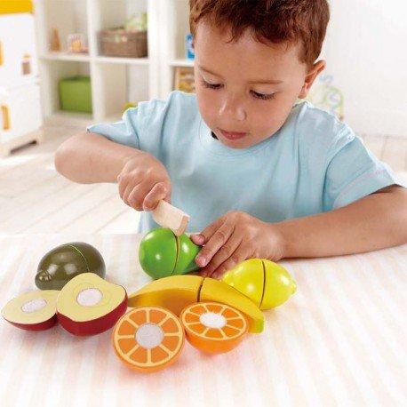 Set d frutas y cuchillo Hape