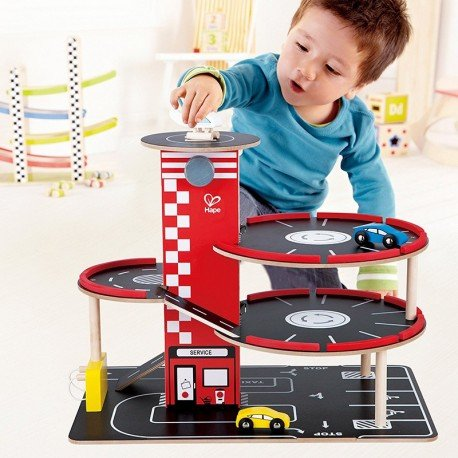 "Parking de madera ""Christmas Special"" Hape"