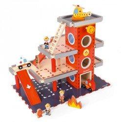 Estación de bomberos con accesorios Janod