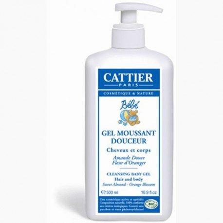 Gel de baño cabello y cuerpo para bebé. Cattier