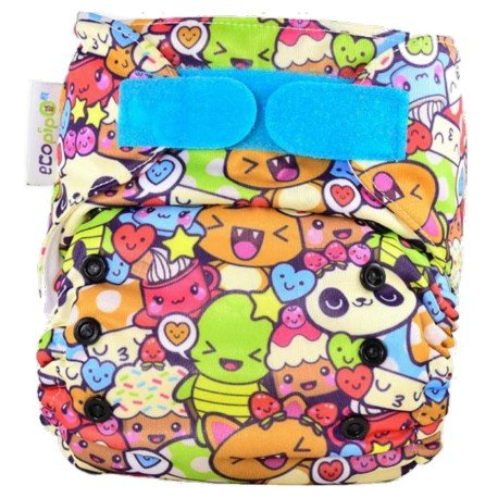 Ecopipo rellenable Talla unica. Adorables muñequitos Kawaii