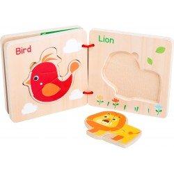 Libro puzle Animalitos de madera