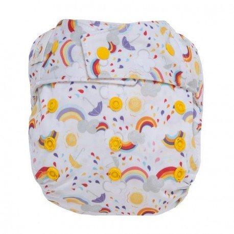 Cobertor Grovía Hibrido TE2 Snaps RAINBOW BABY