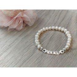 Pulsera perlas y plata Abuela