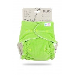 Pañal ajustado XL Nocturno Petit Lulu (Snaps) - Green (velour)