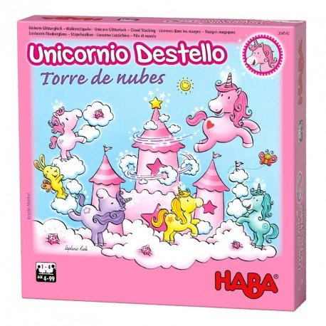 Unicornio Destello – Torre de nubes. HABA.