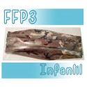 Mascarillas infantiles Reutilizables Triple Capa FFP3 - Militar