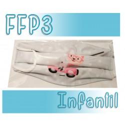 Mascarillas infantiles Reutilizables Triple Capa FFP3 - Moto Gris