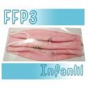 Mascarillas infantiles Reutilizables Triple Capa FFP3 - Rosa Buho