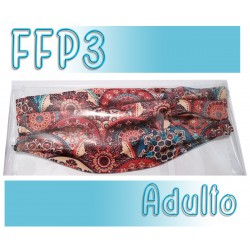 Mascarillas Adulto Reutilizables Triple Capa FFP3 - Estampada