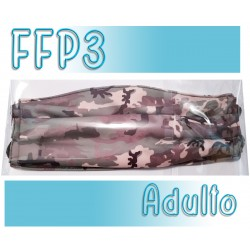Mascarillas Adulto Reutilizables Triple Capa FFP3 - Militar