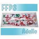 Mascarillas Adulto Reutilizables Triple Capa FFP3 - Letras