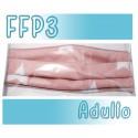 Mascarillas Adulto Reutilizables Triple Capa FFP3 - Rosa Estrellas