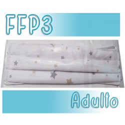 Mascarillas Adulto Reutilizables Triple Capa FFP3 - Estrellas