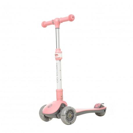 Patinete 3 ruedas infantil con LEDS plegable Twenty Go Easy Rosa