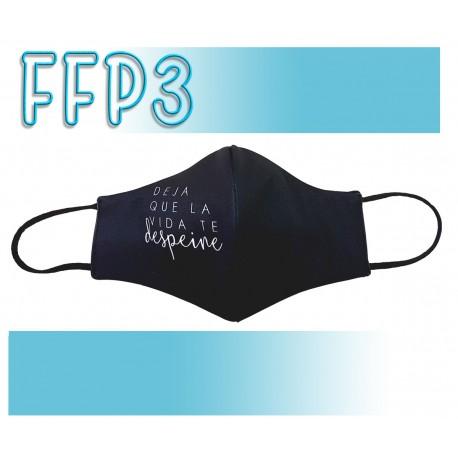 Mascarillas Adulto Reutilizables Triple Capa FFP3 - Pico de Pato Deja que la vida te despeine