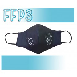 Mascarillas Reutilizables Triple Capa FFP3 - Pico de Pato All You Need Is Love