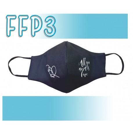 Mascarillas Adulto Reutilizables Triple Capa FFP3 - Pico de Pato All You Need Is Love